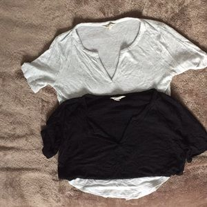 Lot of 2 Madewell Henley tops size xxs